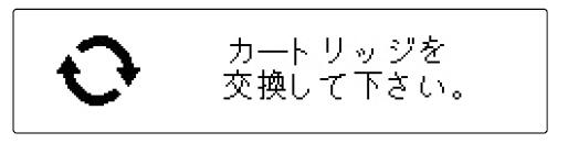 カートリッジの交換時期表示